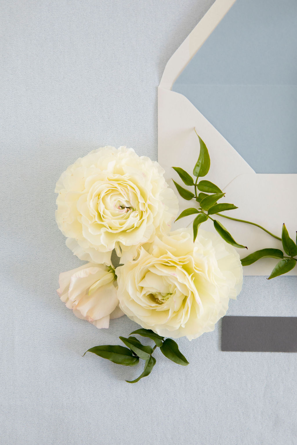 blue wedding details - Leah E. Moss Designs
