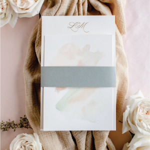 belly bands for wedding invitations - Leah E. Moss Designs
